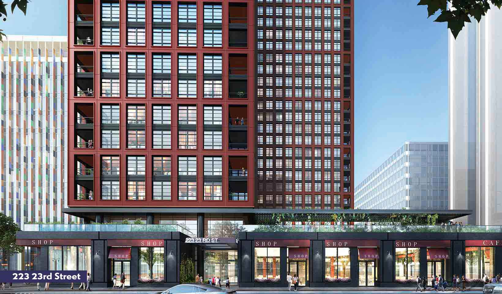 Rendering of the 223 23rd Street exterior