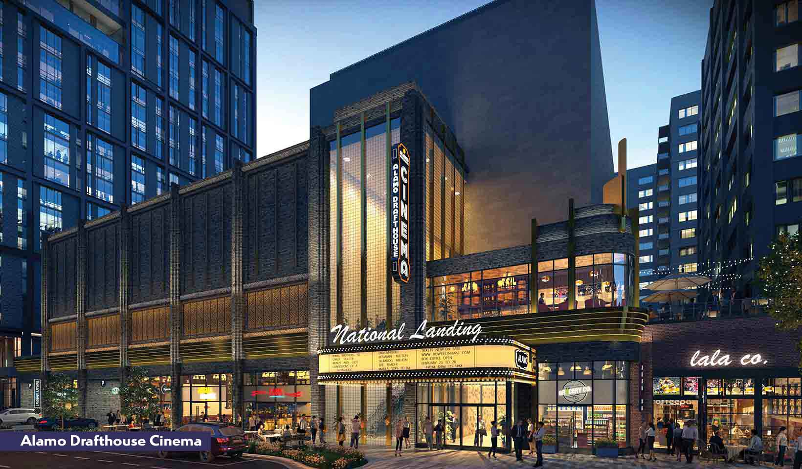 Rendering of the Alamo Drafthouse Cinema exterior