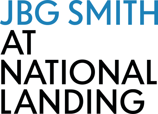 """JBG SMITH at National Landing"" logotype"